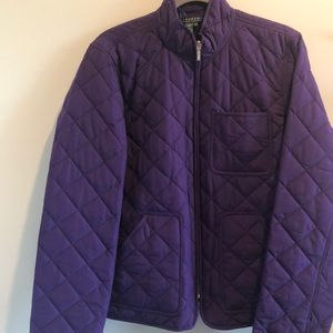 Nwot Ralph Lerann purple quilt stitch jacket